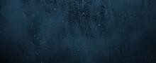 Navy Blue Cement Background. Old Dark Blue Background. Blue Wall Texture