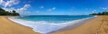Panoramic View Of Haena Beach Park With Tunnels Beach Makua Beach, Kauai, Hawaii Against Sky
