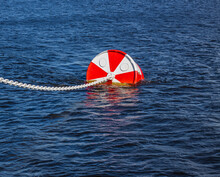 Red Buoy On The Sea