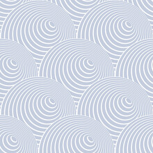 Abstract Seamless Blue Pattern In Fish Scale Design.