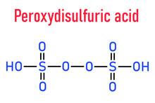 Peroxydisulfuric Acid Oxidizing Agent Molecule. Skeletal Formula.