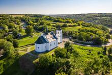 Old Elias Church In Subotiv, Cherkasy Region. Aerial View
