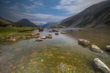 A Wide Angle Of Wast Water Lake In The Lake District Cumbria