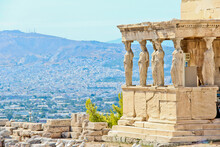 Views Of The Acropolis, Athens, Greece.