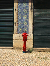 Fire Hydrant In Old Street In Lisbon, Portugal