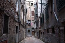 Narrow Street In Venice.