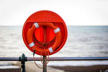 Life Belt At Beach Front