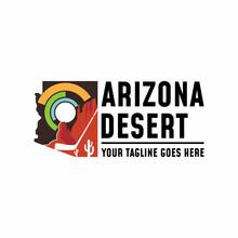 Logo, Design, Vector, Image Of The Arizona Region And Nature