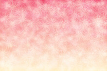 Beautiful Abstract Background. Sweet Pink To Beige Gradient And Star Shaped Pattern