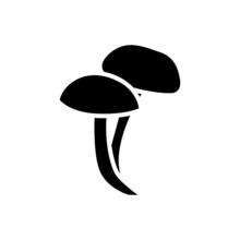 Mushroom Vector Icon. Food Illustration Sign. Fungus Symbol Or Logo.