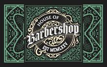 Vintage Barbershop Label In Vintage Style