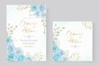 Beautiful roses invitation card template