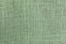 Jute Fabric Simple Woven Texture May Used As Background Natural Decorative Fabric Green Clolor