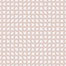 Neutral Truchet Curves Offset Design. Geometric Vector Pattern. Circular Pink Maze Background.
