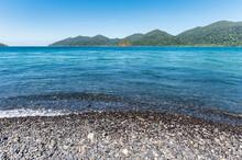 Beautiful Black Stone Beach Or Koh Hin Ngam In Tropical Sea At Lipe Island