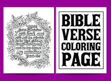 Bible Verse Coloring Pages, Christian Lettering Coloring Page For Children And Adults. Bible Verse Coloring Pages, Christian Religious Typography Coloring Page For Children And Adults.