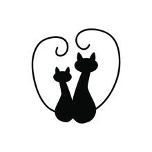Cat Icon Vector. Pet Illustration Sign. Tomcat Symbol. Animal Logo.