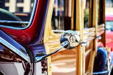 Vintage Car Side Mirror Cloe-Up