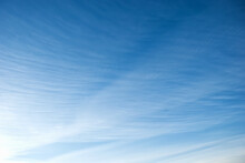 Heap White Clouds In A Clear Blue Sky.