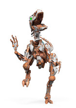 Rusty Raptor Robot Is Doing A Front Attack