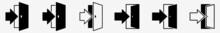Entry Icon Exit Sign Entry Set | Exits Entries Icon Entrance Vector Illustration Logo | Entry Exit Icon Arrow Enter Isolated Collection