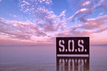 Peaceful Waters Of Bombay Beach California In The Salton Sea