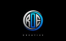 ROE Letter Initial Logo Design Template Vector Illustration