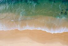Nobbys Beach Top Down Aerial View - Newcastle NSW Australia