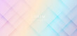 Abstract futuristic geometric shape overlapping on colorful pastel background.
