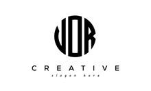 Letter VOR Creative Circle Logo Design Vector