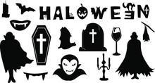 Vector Of The Halloween Vampire Bundle
