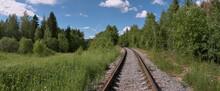 Railroad On The Summer Field.