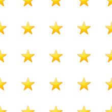 Star Icon Emoji Pattern Design. Golden Sky Seamless Background Symbols. Emoticon Illustration Design Vector.