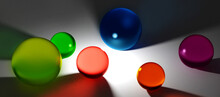 Abstract Background With Colorful Multicolored Glass Balls
