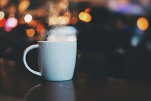 Cup Of Coffee On The Table