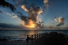 Tropical Beach Pier Sunset