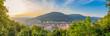 canvas print picture - Sonnenuntergang Panorama über Heidelberg