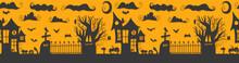 Seamless Pattern. Halloween - October 31. Hand-drawn Doodle Illustration. Trick Or Treat. Happy Halloween 2021