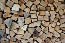 Stack Of Firewood, Chopped Wooden Logs, Pile Of Wood