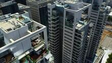 Aerial View Of Tel Aviv Jaffa Center, Sarona Market, Azrieli, Gush Dan