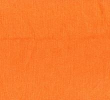 Handmade Knitted Fabric Orange Wool Background Texture
