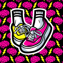Vector Pair Of Pink Shoes