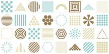 幾何学 メンフィス柄 セット チョコミントカラー