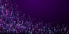 Abstract Glowing Line Streams Fiber Optics