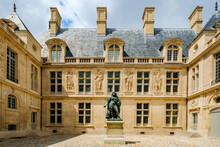 Courtyard Of The Carnavalet Museum In Paris.