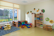 Modern Children's Day Care Or Pre-school Building, Open Indoors Play Area
