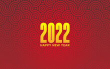 Happy Chinese New Year 2022 Web Banner Design Background With Chinese Geometric Tiger Or Dragon. Geometric Poster Or Banner Layout. 2022 Minimal Geometric Background With Asian Traditional Pattern.