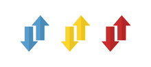 Arrows Icon, Different Direction, Vector Illustration