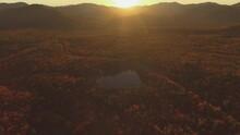 White Mountains Flyover Kancamagus Highway New Hampshire Sunrise Fall