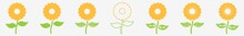 Flower Icon Orange Flower Set | Flowers Icon Floral Bloom Vector Illustration Logo | Flower-Icon Isolated Blooming-Flower Collection